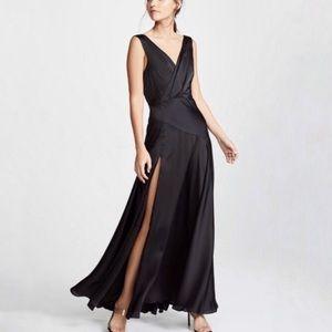 NWOT Free People Black Essie Maxi Gown 12